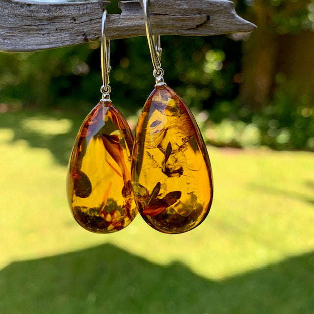 Baltic Amber Earrings, Rowena Watson Designs