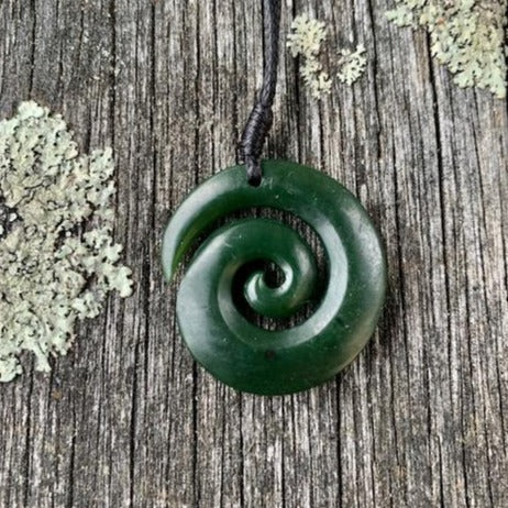 Small Open Koru, New Zealand Greenstone