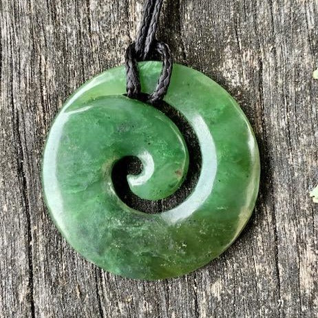 Medium Koru, New Zealand Greenstone