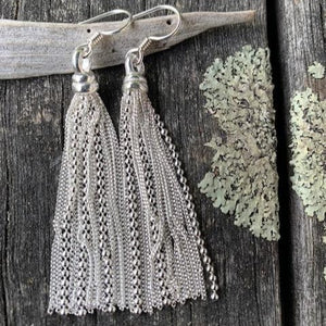Sterling Silver Tassel Earrings