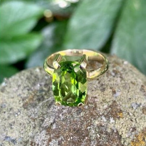9ct Gold Burmese Peridot Ring, Rowena Watson Designs