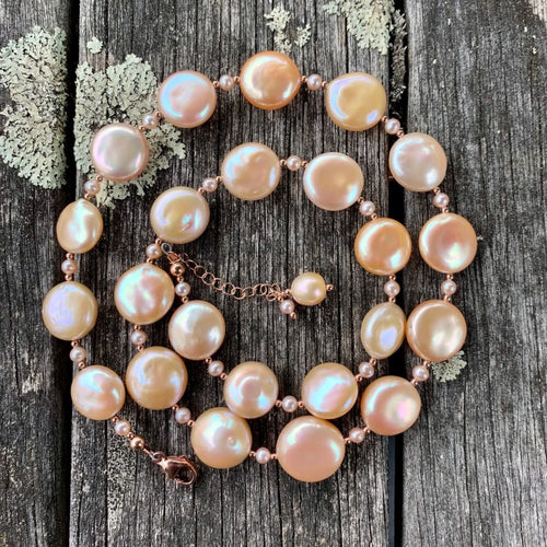 AA Quality Natural Pink Fresh Water Pearl Necklace, Rowena Watson Designs