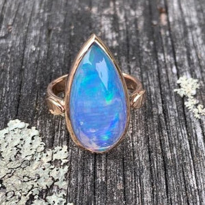 Ethiopian Opal and 9ct Rose Gold Ring, Rowena Watson Designs