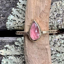 Pink Tourmaline and 9ct Yellow Gold Ring, Rowena Watson Designs