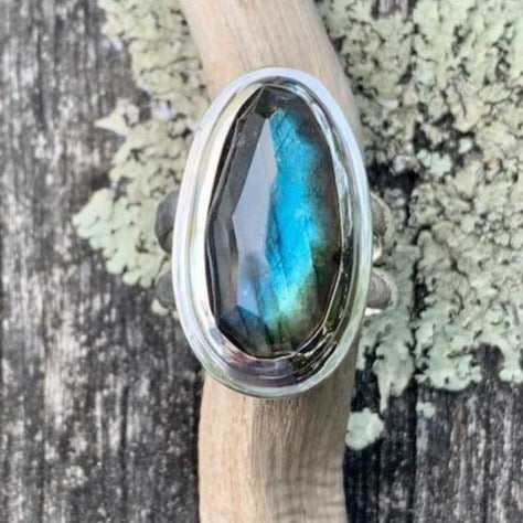 Rose Cut Labradorite Ring, Rowena Watson Designs