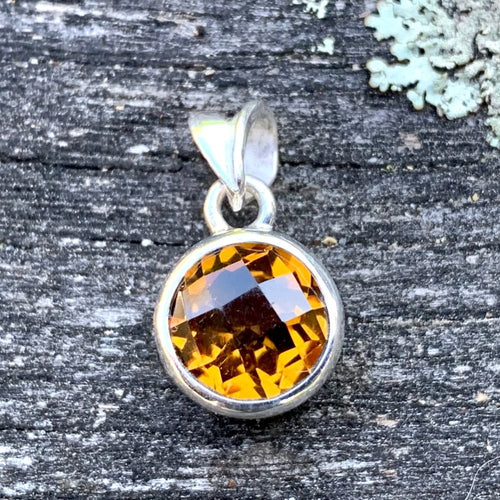 Faceted Citrine Pendant, Rowena Watson Designs