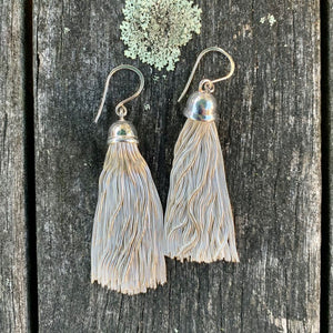 Sterling Silver Italian Tassel Earrings