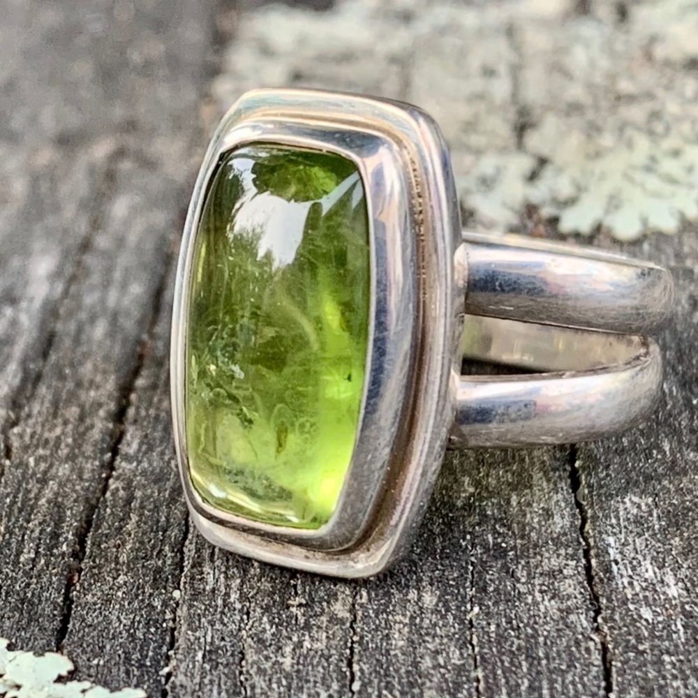 Peridot and Sterling Silver Ring, Rowena Watson Designs