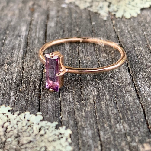 Amethyst Ring, 14ct Gold, Rowena Watson Designs