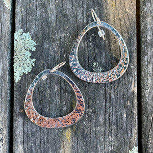 Beaten Sterling Silver Go-Go Earrings