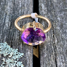 Brazillian Amthyst and 9ct Gold Ring, Rowena Watson Designs