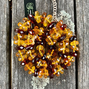 Faceted Baltic Amber Necklace, Rowena Watson Designs