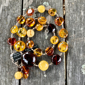 Mixed Baltic Amber Necklace, Rowena Watson Designs