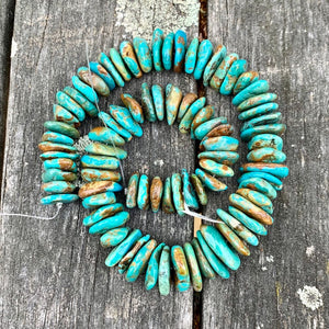 Chinese Turquoise Nuggets, Semi Precious Strand