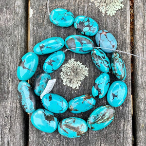 Chinese Turquoise Beads, Semi Precious Strands