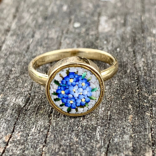 1920's Micro Mosaic and 14ct Gold Ring, Rowena Watson Designs