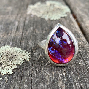 Vintage Dragon's Breath Glass Ring, Rowena Watson Designs