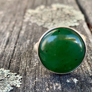 Dome Ring, New Zealand Greenstone