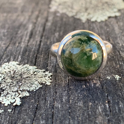 Marsden Flower Greenstone Ring, Rowena Watson Designs