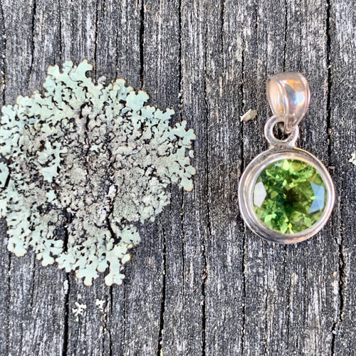 Faceted Peridot Pendant, Rowena Waston Designs