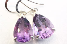 Exquisite Fine Amethyst Drop Earrings, Rowena Watson Designs