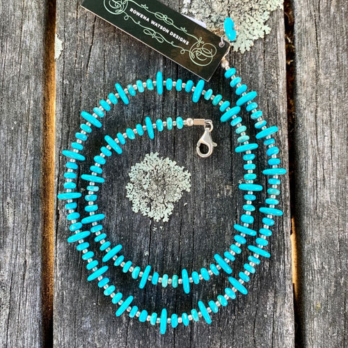 Fine Sleeping Beauty Turquoise Necklace, Rowena Watson Designs