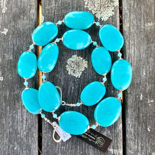 Oval Amazonite Necklace, Rowena Watson Designs