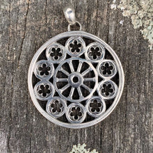 Big Boy Rose Window Pendant, Sterling Silver, Rowena Watson Designs