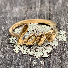 14ct Yellow Gold 'Love' Ring