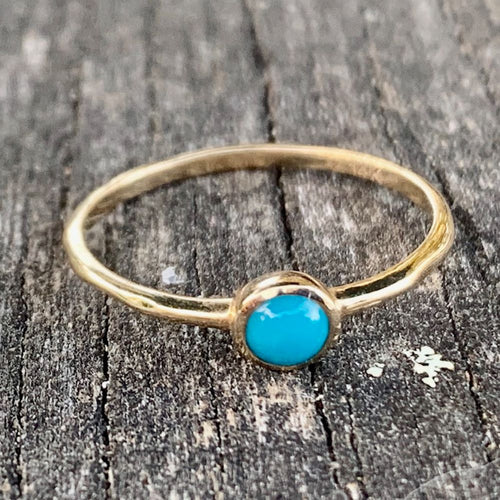 14ct Gold and Sleeping Beauty Turquoise Ring, Rowena Watson Designs