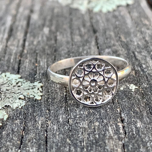 Sterling Silver Rose Window Ring, Rowena Watson Designs