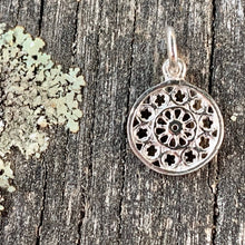 Tiny Rose Window Pendant, Sterling Silver, Rowena Watson Designs