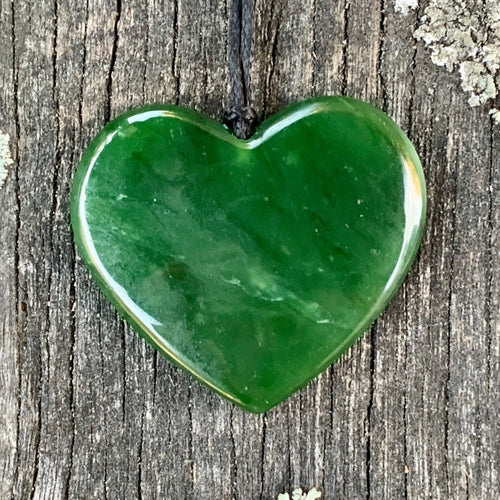 Marsden Flower Heart, New Zealand Greenstone