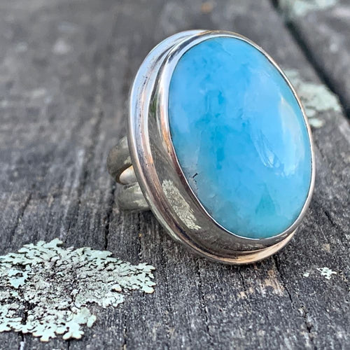 Large Larimar Ring, Rowena Watson Designs