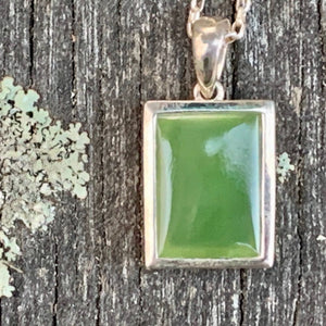 Rectangular Pounamu Pendant, New Zealand Greenstone