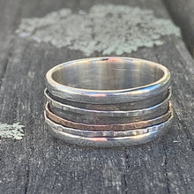 Spinner Ring, Sterling Silver and 9ct Gold, Rowena Watson Designs