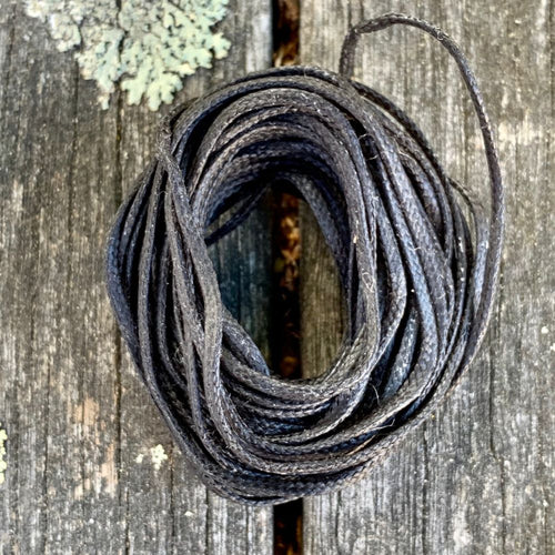 1.7mm Black Waxed Thread, 5 Metres