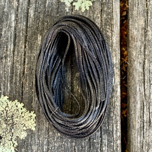 1.2mm Black Waxed Thread, 5 Metres
