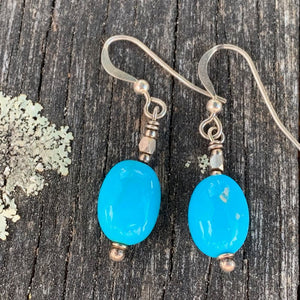 Sleeping Beauty Turquoise Earrings, Rowena Watson Designs