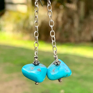 Turquoise Nugget Earrings, Rowena Watson Designs