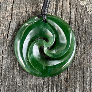 Triple Wave Koru, New Zealand Greenstone