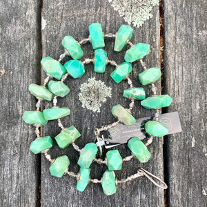 Brazilian Chrysoprase Necklace, Rowena Watson Designs