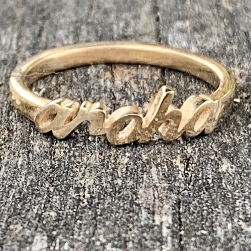 9ct Yellow Gold Aroha Ring, Rowena Watson Designs