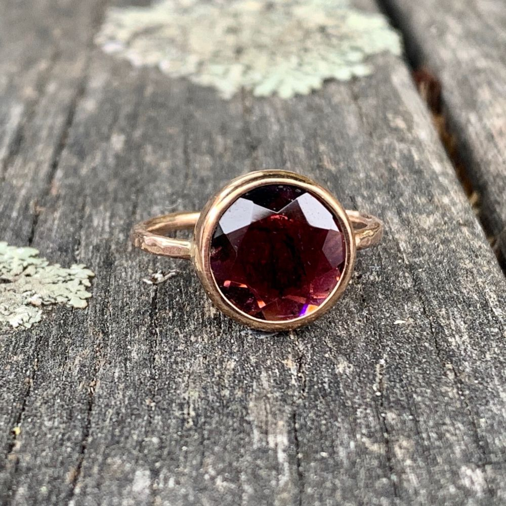 Pink Tourmaline Ring, 9ct Red Gold, Rowena Watson Designs