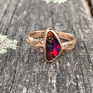 Boulder Opal and 9ct Rose Gold Ring, Rowena Watson Designs