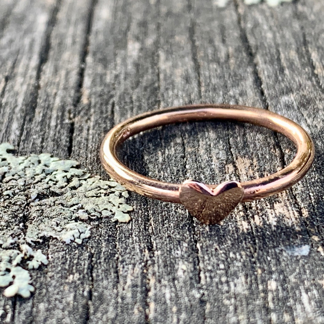 Lovely Heart Ring, 9ct Rose Gold, Rowena Watson Designs