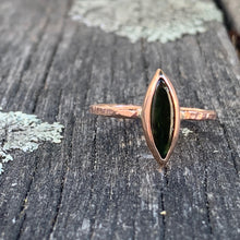 Green Tourmaline and 9ct Rose Gold Ring, Rowena Watson Designs