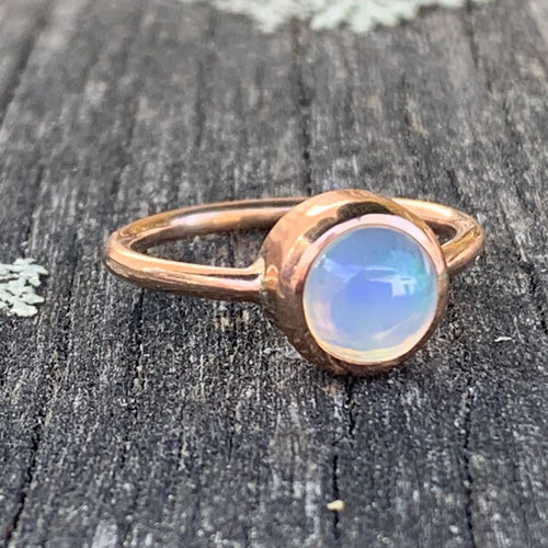 9ct Rose Gold Ethiopian Opal Ring, Rowena Watson Designs
