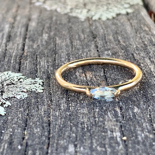 9ct Gold Aquamarine Ring, Rowena Watson Designs