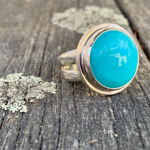 Circle Amazonite Ring, Rowena Watson Designs